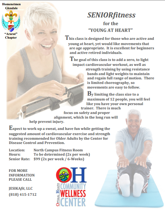 """Senior Fitness for the """"YOUNG AT HEART"""""""