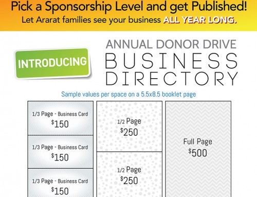Annual Donor Drive Business Directory